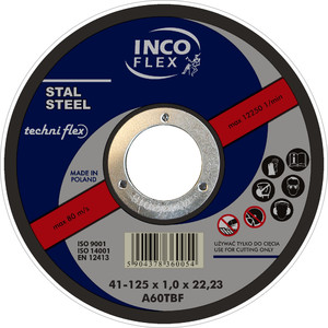 Incoflex Tarcza do metalu płaska 300 x 3,2mm